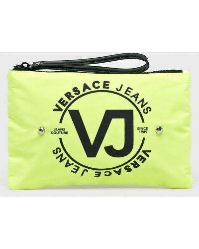 Джинсы mom зеленый Versace Jeans
