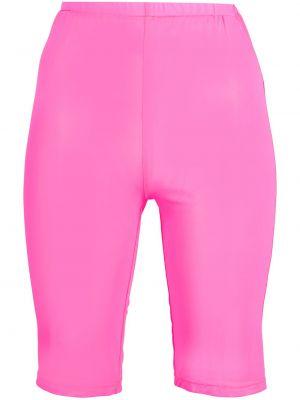 С завышенной талией розовые шорты сетчатые David Koma