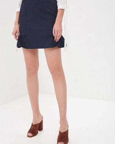 Синяя юбка карандаш Naf Naf