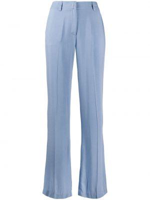 Брючные брюки с воротником с поясом из вискозы Hebe Studio