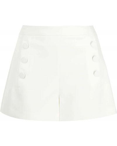 Кожаные белые шорты на молнии Milly