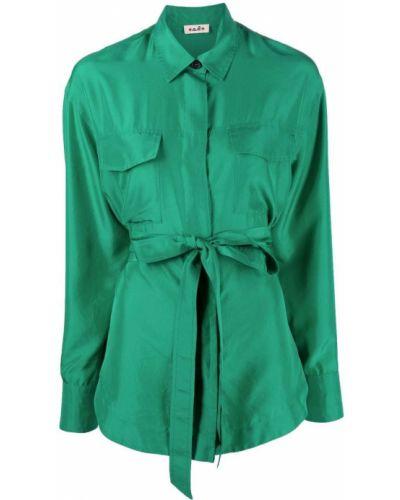 Шелковая рубашка с длинным рукавом классическая с воротником Alberto Biani