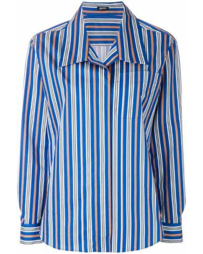 Блузка в полоску хлопковая Jil Sander Navy