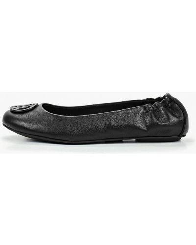 Балетки черные кожаные Tommy Hilfiger
