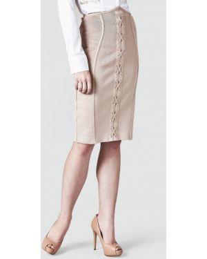 Różowa spódnica ołówkowa z wiskozy Guess
