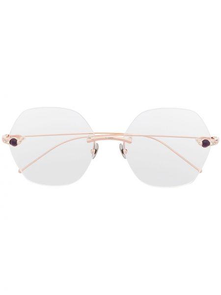 Złote oprawka do okularów Pomellato Eyewear