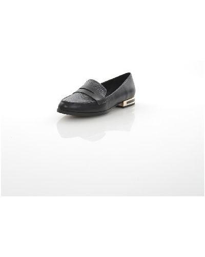 Лоферы черные на каблуке Aldo