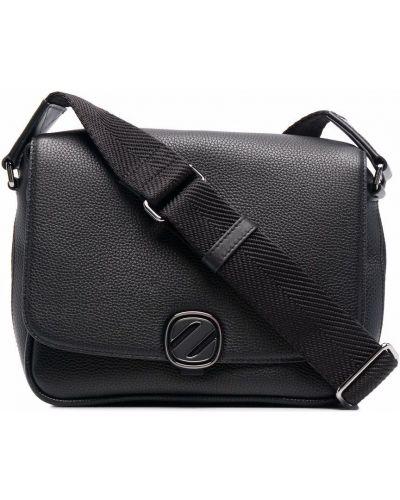 Черная сумка на молнии Ermenegildo Zegna