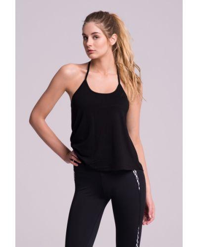 Спортивная футболка черная из вискозы Cardio Bunny