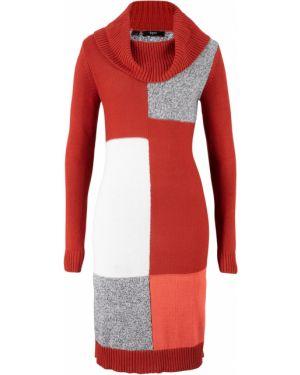 Деловое платье вязаное красный Bonprix