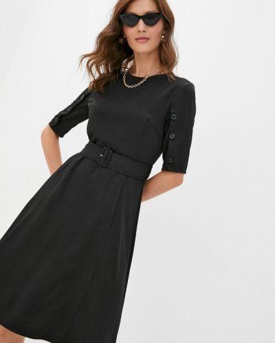 Черное прямое платье Cavo