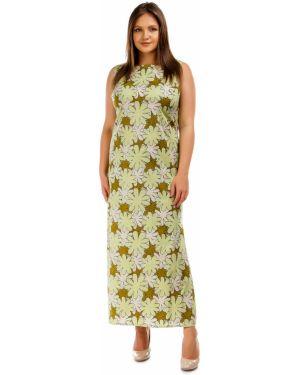Летнее платье макси с цветочным принтом Liza Fashion