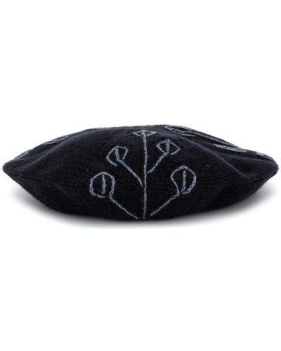 Z kaszmiru niebieski beret z haftem Loro Piana Kids