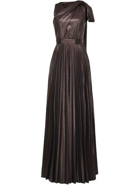 Плиссированное черное платье макси без рукавов Pinko