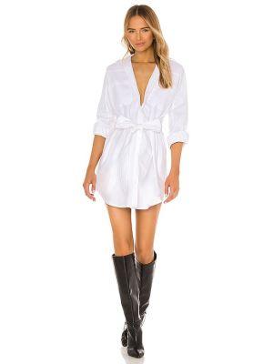 Кашемировое повседневное белое платье-рубашка Marissa Webb