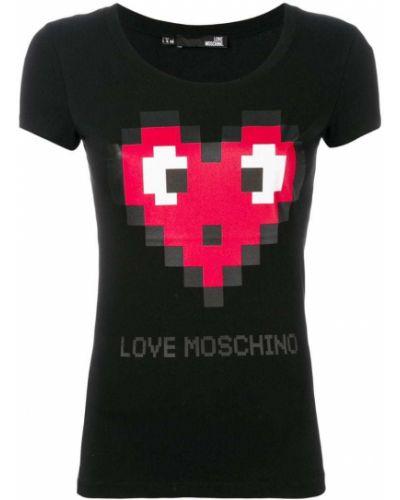 Футболка стрейчевая хлопковая Love Moschino