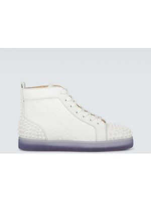 Białe sneakersy skorzane Christian Louboutin