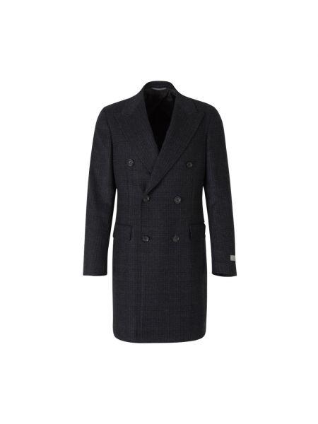 Niebieski z kaszmiru płaszcz Canali