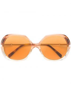 Желтые солнцезащитные очки круглые металлические Céline Eyewear