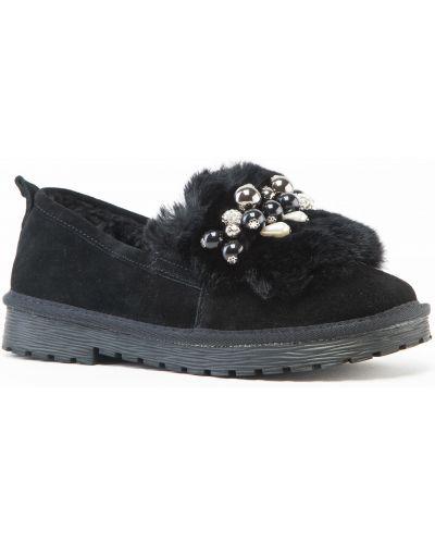 Замшевые туфли черные Prima D'arte