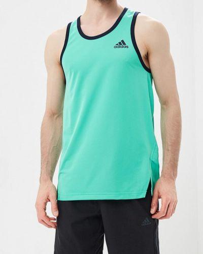 Зеленая спортивная майка Adidas