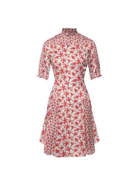 Повседневное платье с цветочным принтом шелковое Drome
