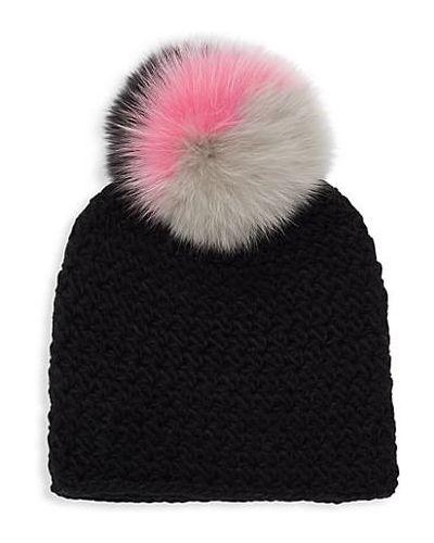 Фиолетовая акриловая шапка бини Surell