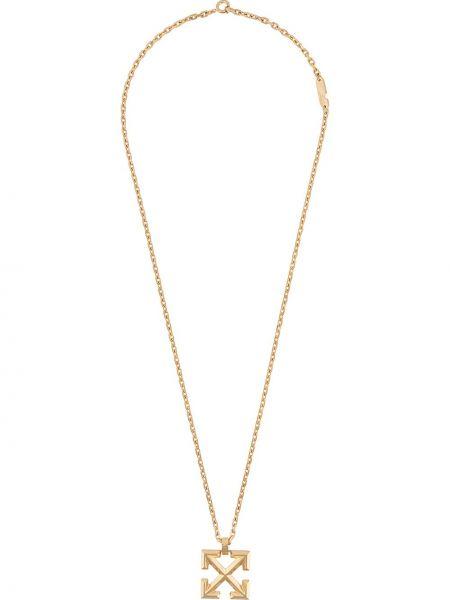 Золотистое ожерелье золотое Off-white
