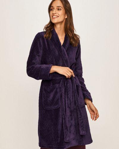 Szlafrok z więzami fioletowy Lauren Ralph Lauren
