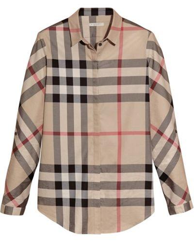 Рубашка в клетку белая Burberry
