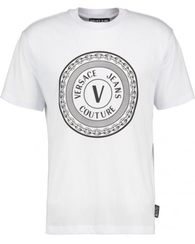 T-shirt okrągły Versace Jeans Couture