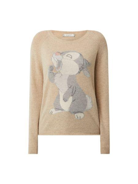 Beżowy sweter z haftem Frogbox
