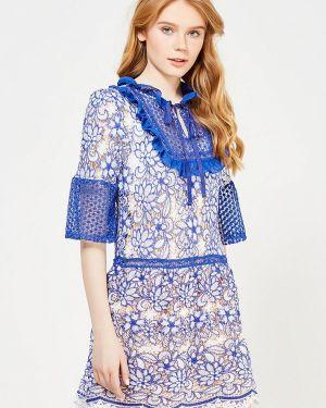 Прямое синее платье Danity