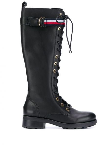 Сапоги черные на шнуровке Tommy Hilfiger