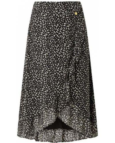Czarna sukienka rozkloszowana z szyfonu Freebird