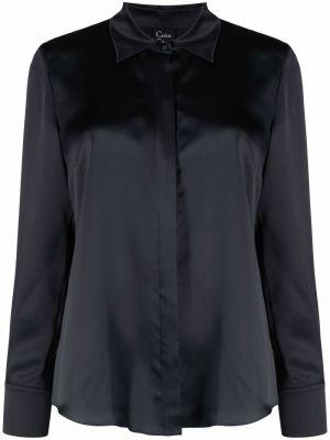 Серая рубашка с длинным рукавом с воротником на пуговицах Carine Gilson