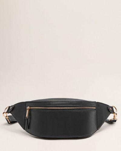Поясная сумка кожаный среднего размера Mango