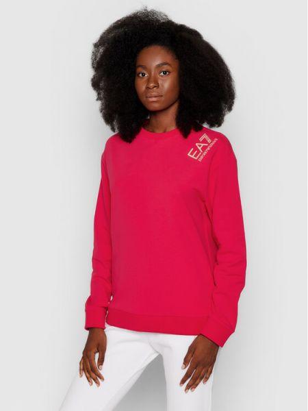 Różowa bluza Ea7 Emporio Armani