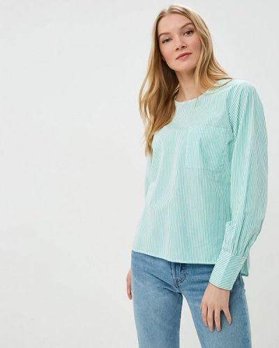 Зеленая блузка с длинным рукавом Selected Femme