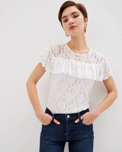 Блузка с коротким рукавом белая итальянский Blugirl Folies