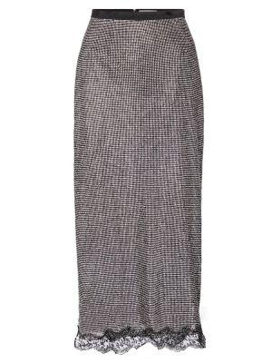 Черная юбка миди с сеткой сетчатая Christopher Kane