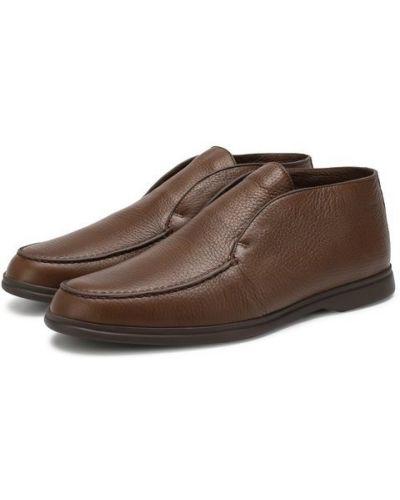 Кожаные ботинки коричневый с подкладкой Loro Piana