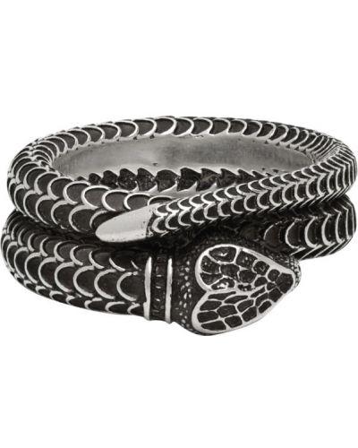 Pierścień z logo srebro Gucci