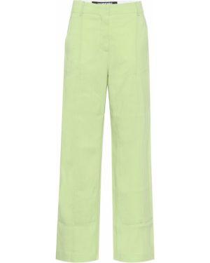 Szerokie spodnie zielone Jacquemus