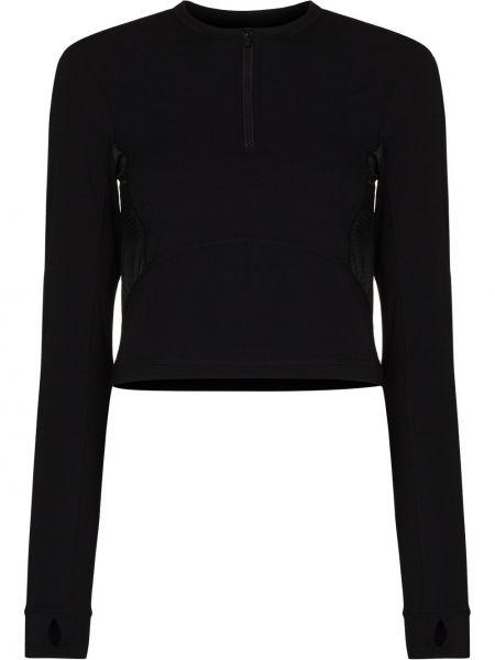 Czarna koszulka z długimi rękawami Sweaty Betty