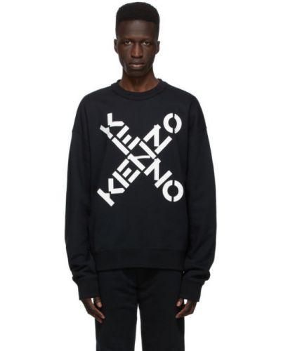 Czarny bawełna bawełna bluza z długimi rękawami Kenzo