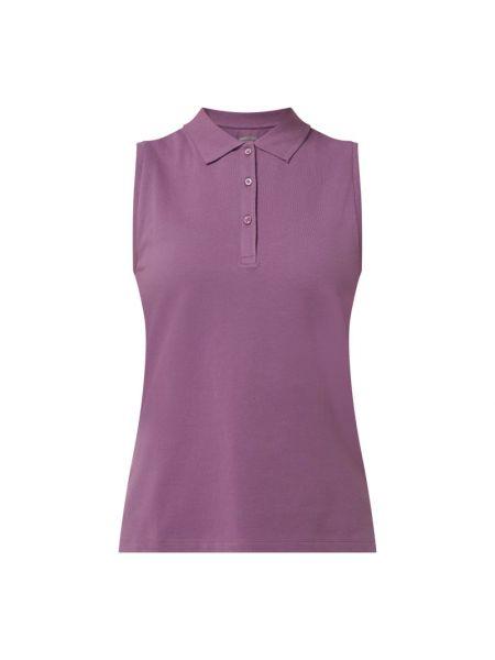 T-shirt bawełniana - fioletowa Montego