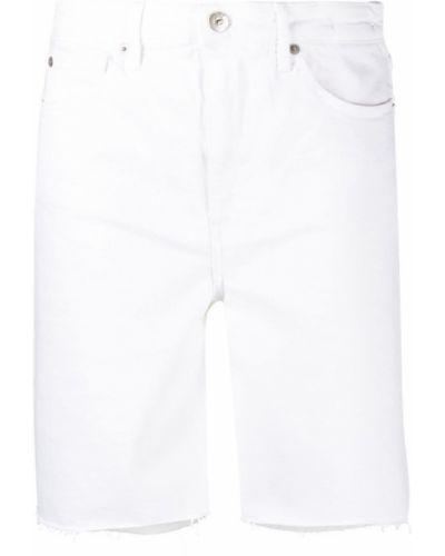 Хлопковые белые джинсовые шорты на молнии 3x1