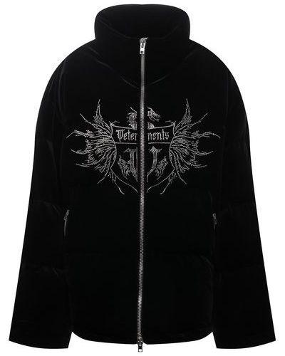 Пуховая куртка - черная Vetements