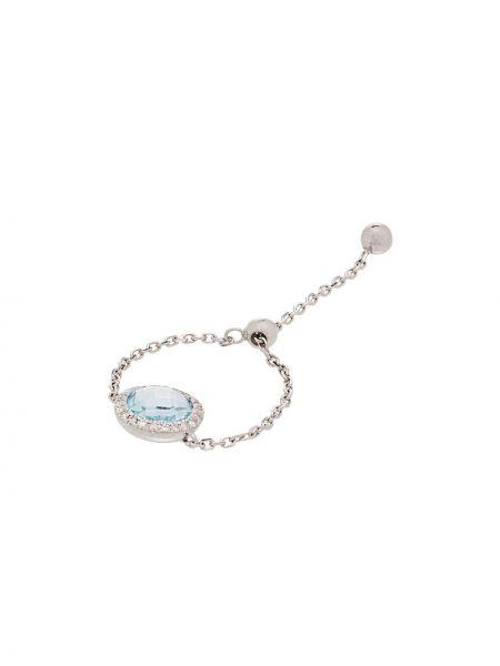 Белая цепочка из золота с камнями Anissa Kermiche
